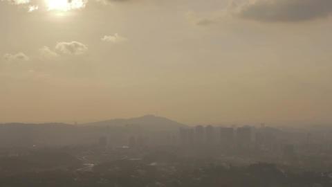 foggy sunset in kuala lumpur Footage