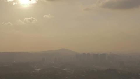 foggy sunset in kuala lumpur Stock Video Footage
