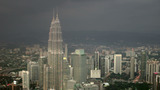Petronas Twin Tower, Kuala Lumpur stock footage