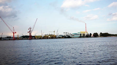 harbours in singapore Stock Video Footage