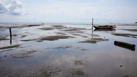 low tide Stock Video Footage