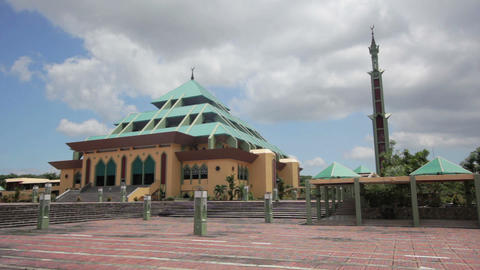 Masjid Raya Batam pyramid mosque Footage