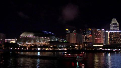 The Esplanade and Marina Bay at Night, Singapore Footage
