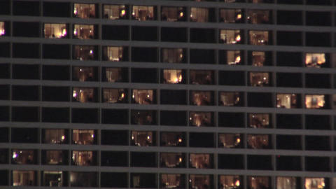 Hotel Rooms lit at Night Live Action
