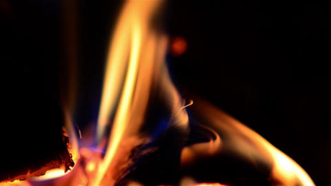 Playful flames. that engulfed a wood put in the stove to warm the cold air in th Footage