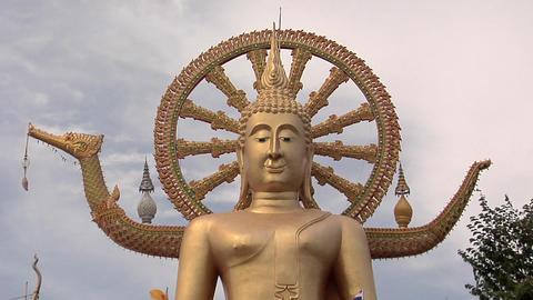 The Big Buddha at Wat Phra Yai in Thambon Bo, Koh Samui Footage