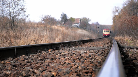 Passenger train departs from station 5 Footage