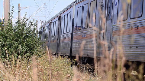 Passenger train departs from station 15 Footage