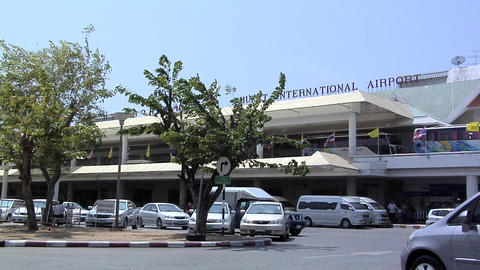 Phuket International Airport Terminal Building Footage