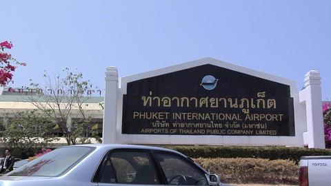 Phuket International Airport Sign Live Action