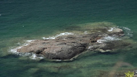 Rock Formation in the Water near Southern View Point Live Action