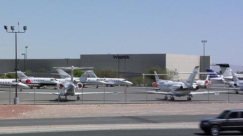 Private Jets Parking Space, Las Vegas Live Action