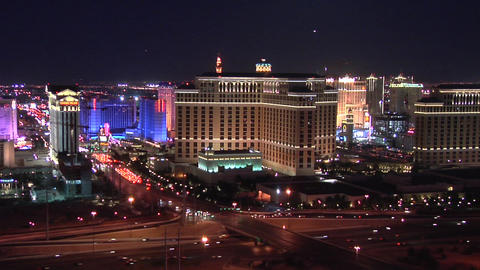 Casino Hotels of the Las Vegas Strip early evening Footage