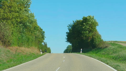 Country road in Germany Footage