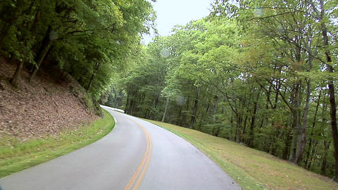 POV along the Blue Ridge Parkway in North Carolina Footage