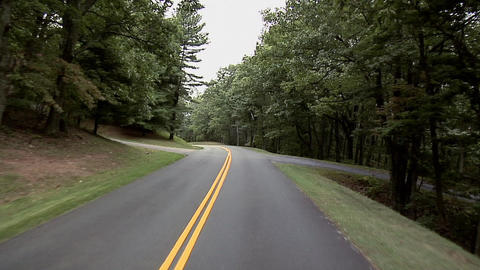 POV along the Blue Ridge Parkway in North Carolina Live Action