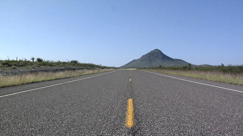 Center of a Road in South Dakota Live Action