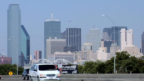 Skyline of Dallas, Texas Live Action