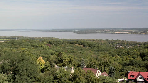 View from the Observation Tower at Peoria Heights, Illinois Footage