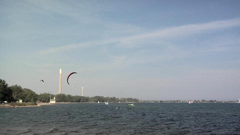 Kite Boarding on Cherry Beach, Toronto Live Action