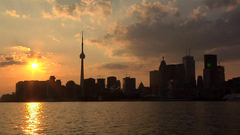 Skyline of Toronto at Sunset Live Action