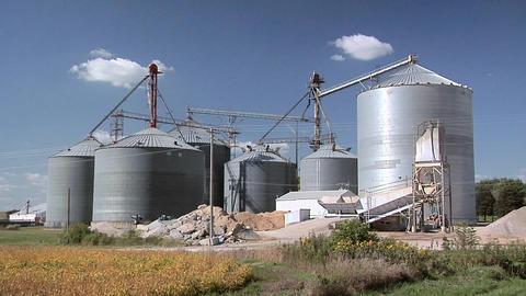 Grain Silos in Casey, Iowa Footage