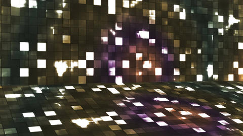 Broadcast Firey Light Hi-Tech Squares Stage, Brown, Abstract, Loopable, 4K Animation