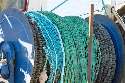 Fishing nets in the harbor in Hanstholm Fotografía