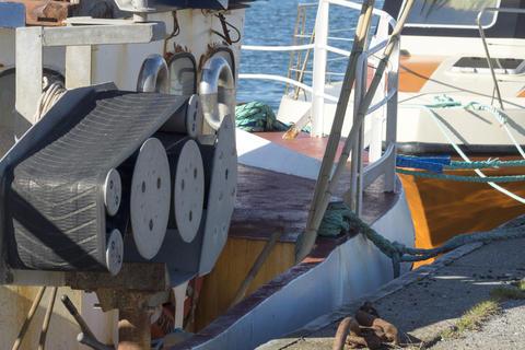 Fishing boat in the harbor of Hanstholm Fotografía