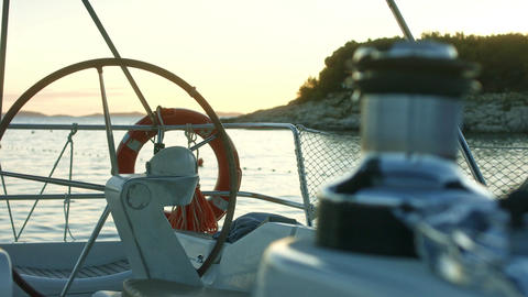 Close up on sail winch on a yacht Footage