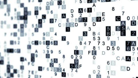 Digital data hex code seamless loop animation with DOF Animation