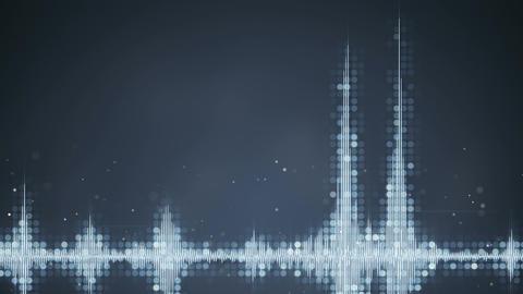 Grey audio waveform equalizer techno loopable animation Animation