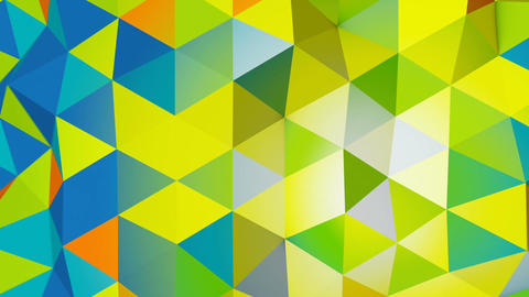 Vivid colors polygonal chaotic shape loopable 3D animation Animation