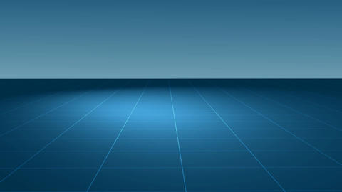 3D room with grid Animation