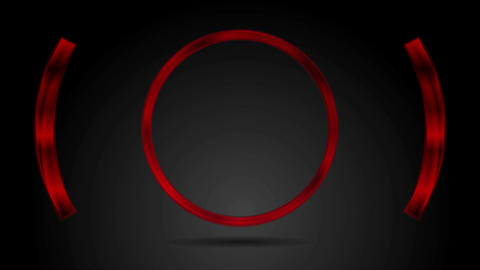 Abstract red glossy metal circle video animation Animation