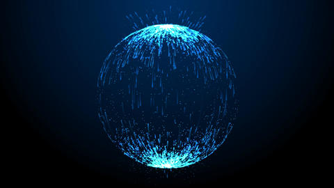 Blue light ball on abstract background Animation
