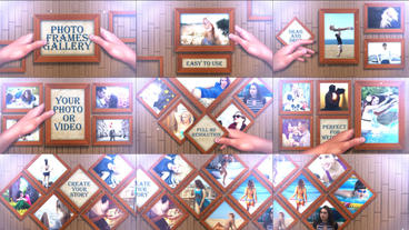 Photo Frames Gallery After Effects Templates