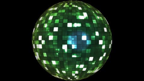 Firey Light Hi-Tech Squares Spinning Globe, Multi Color, Space, Alpha Matte, Animation