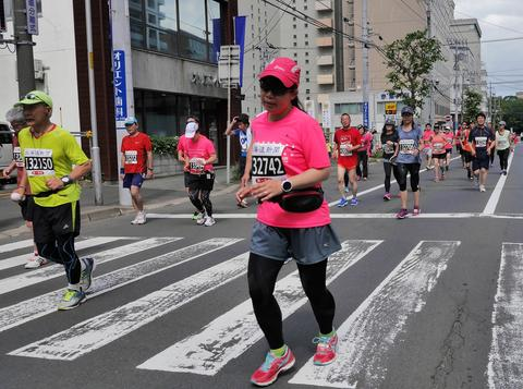 Hokkaido Sapporro Japan 20th of August 2017 Marathon Runners from all over the Foto
