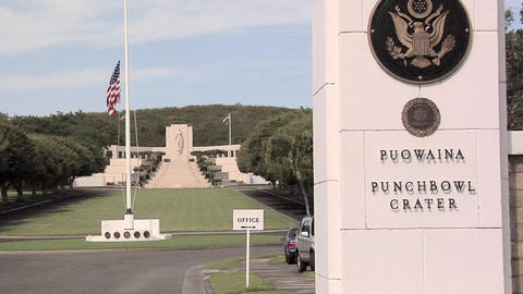 The National Memorial Cemetery of the Pacific, Honolulu, Hawaii Footage