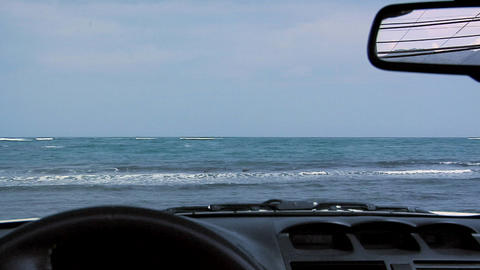 View through the Windshield of a Convertible Car at the Eastern Part of O'ahu, H Footage