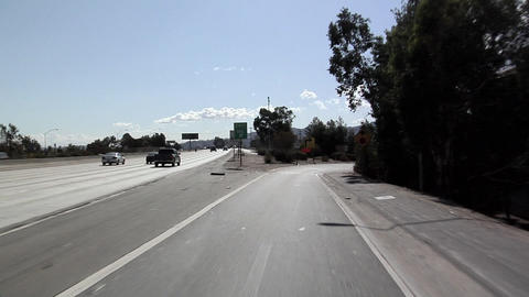POV on Interstate 5 near Los Angeles Live Action