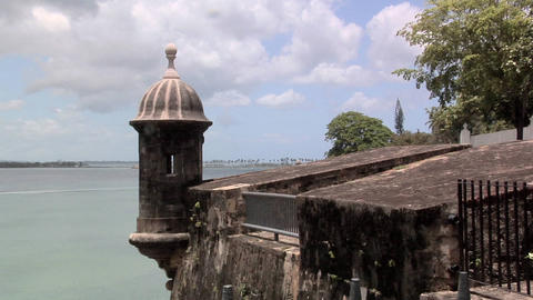 Sentry Box of Castillo San Filipe Del Morro Footage