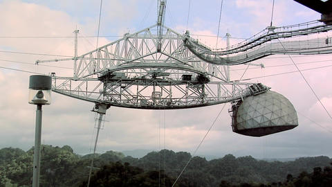 The biggest Radio Telescope in the World at Arecibo Footage