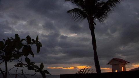Tropical Sunset in Rincon, West Puerto Rico Live Action