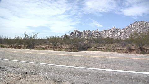 POV on the Cima Road, East Mojave Desert Stock Video Footage