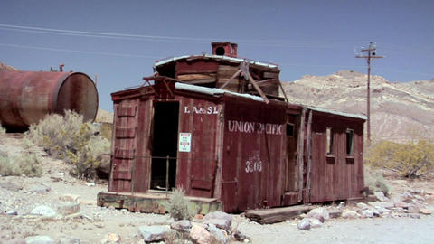 The Ghost Town of the deserted Goldmine Town of Rhyolite Live Action