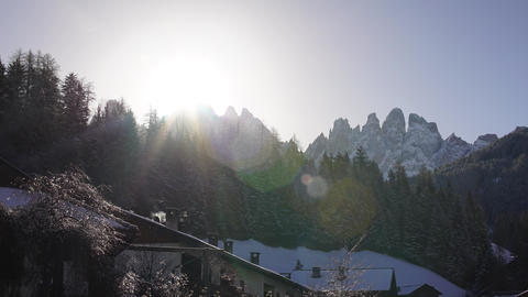 Alpes Peak Sunrise Timelapse 4K stock footage