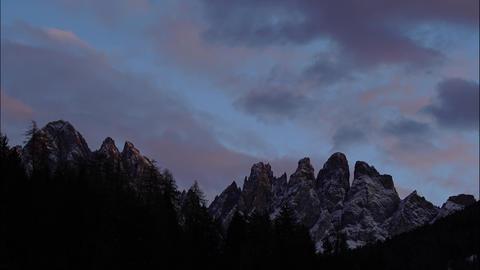 Alpes Peak Sunset Clouds Timelapse 4K Footage