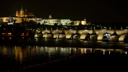 night city - Prague, Czech Republic - Prague Castle (Hradcany) - Charles bridge  Footage